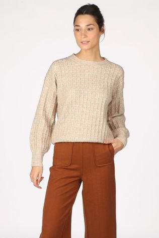 FRNCH Pull Nerline Brun Sable/Or
