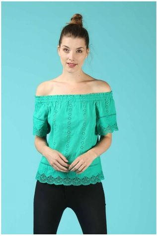 Grace&Mila Blouse Printemps Middengroen
