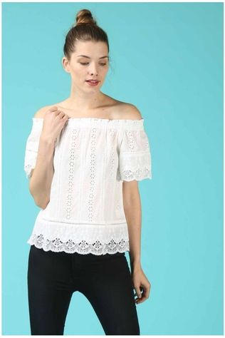 Grace&Mila Blouse Printemps Wit