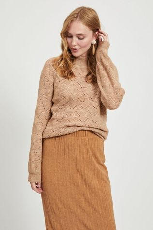 Object Pull Claire Ls Hn Pullover Noos Brun Sable