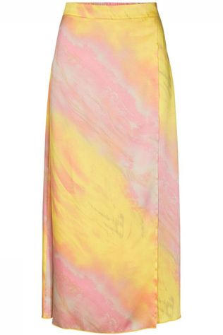 Co'Couture Rok Rainbow Geel/Lichtroze