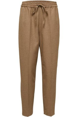 Selected Pantalon julie Mw Comfort Straight Te B Chameau