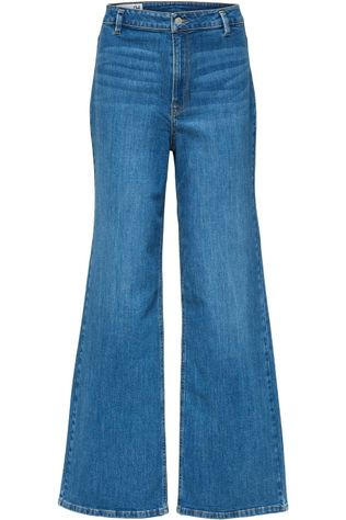 Selected Jeans Slfasly Hw Wide Middenblauw