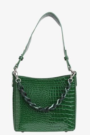 Hvisk Tas Amble Croco Small Middengroen