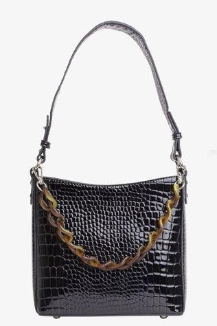 Hvisk Tas Amble Croco Small Zwart