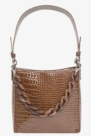 Hvisk Tas Amble Croco Small Middenbruin