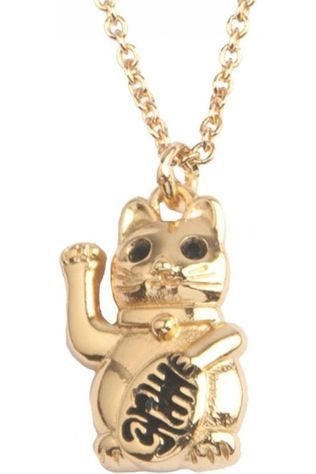 All The Luck In The World Ketting East Lucky Cat Goud/Zwart