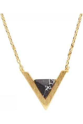 All The Luck In The World Ketting Triangle A Zwart