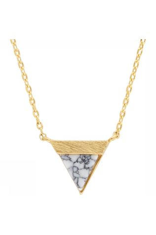 All The Luck In The World Ketting Triangle B Wit