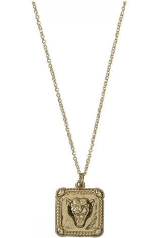 All The Luck In The World Ketting Charm er Square Goud