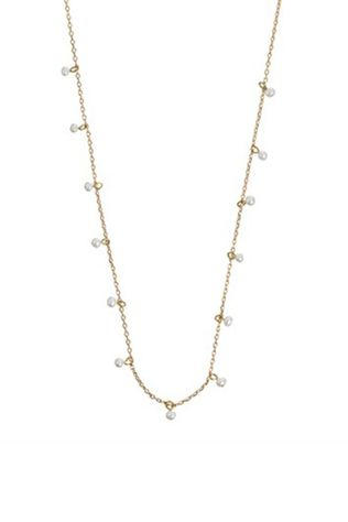 Timi Collier Tiny White Pearl Or/Blanc
