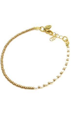 Mimarse Armband Pearl  Goud/Wit