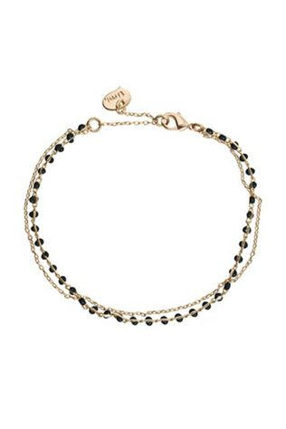 Timi Bracelet Double With Beads Or/Noir