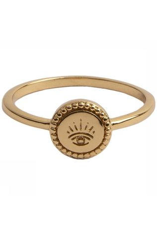 All The Luck In The World Ring Magique Coin Eye Goud