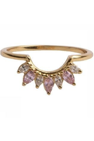 All The Luck In The World Ring Magique Crown Pink Clear Goud/Lichtroze