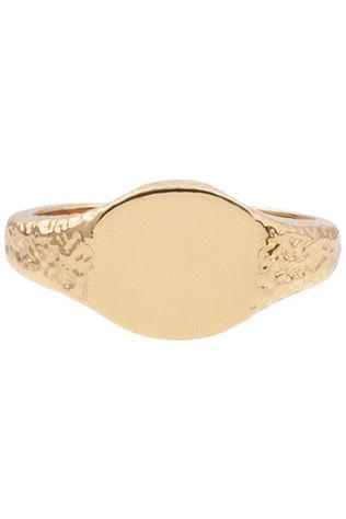 All The Luck In The World Ring Cherie Signet Oval Goud