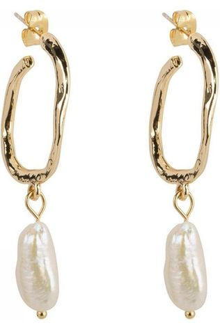 Club Manhattan Oorbel Pearl Hoops Goud