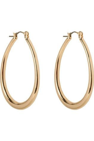 Club Manhattan Oorbel Oval Hoops Goud