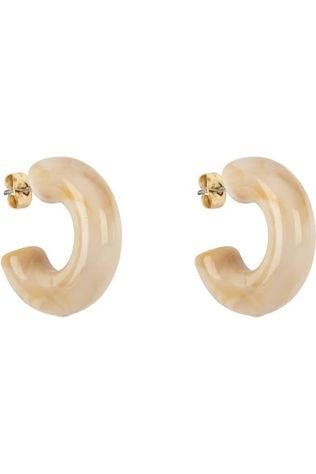Club Manhattan Boucle D'Oreille Bubble Hoops Small Brun Sable