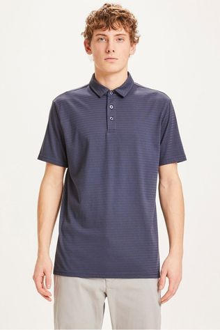 Knowledge Cotton Apparel Polo 20087 Donkerblauw