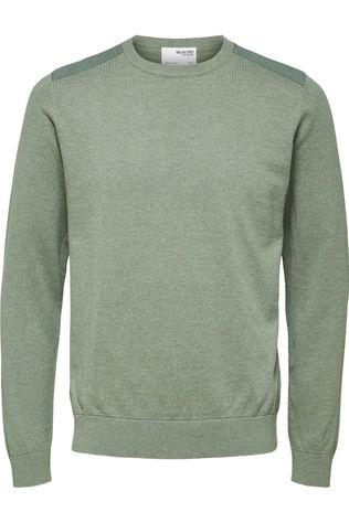 Selected Trui Slhkeston Crew Neck W Lichtkaki