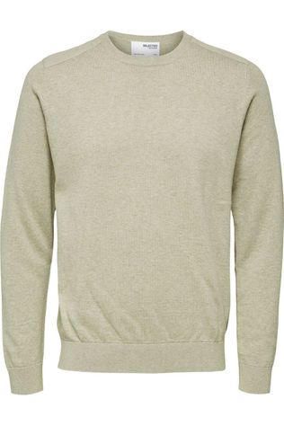 Selected Trui Slhkeston Crew Neck W Zandbruin