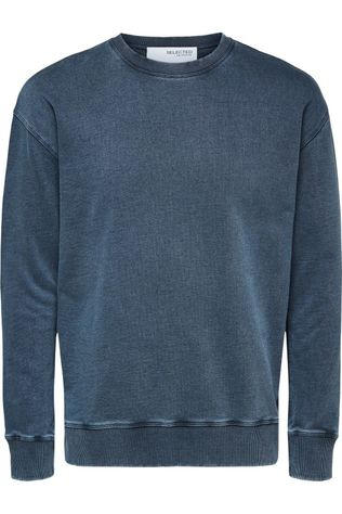 Selected Pull Slhrelaxluis Crew Neck Sweat W Bleu (Jeans)