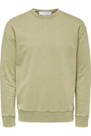Selected Pull Slhrelaxluis Crew Neck Sweat W Kaki Moyen