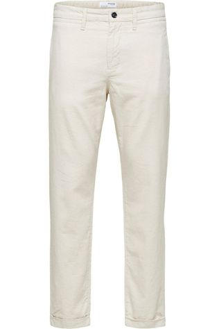 Selected Pantalon Slhslimcomfort-Barry Linen Anks W Ecru