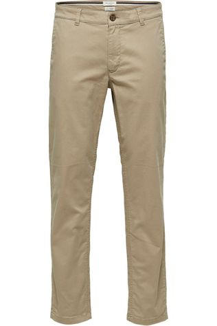 Selected Pantalon straight-Newparis Flex Pants W Noos Brun Sable