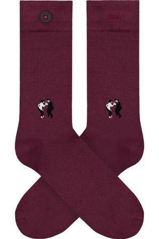 A-Dam Chaussette Wally Bordeaux / Marron/Blanc