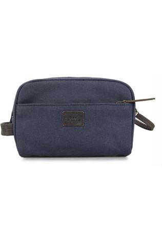 O My Bag Zak Oliver's Wash Bag Marineblauw/Donkerbruin