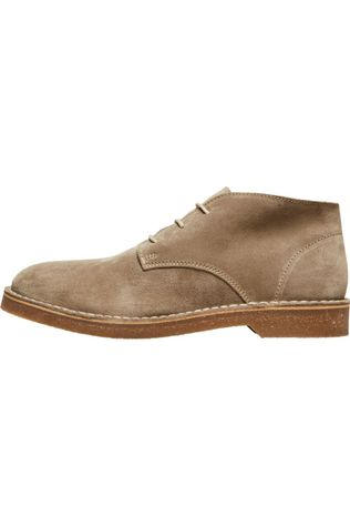 Selected Bottine Slhriga Suede Desert B Brun Sable