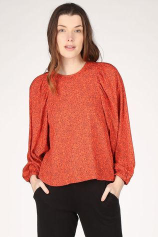 Wearable Stories Blouse Jante Rood/Ass. Bloem