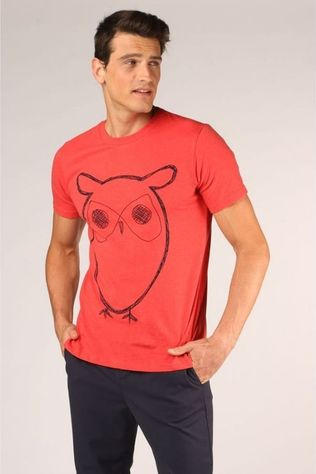 Knowledge Cotton Apparel T-Shirt 10184 Middenrood