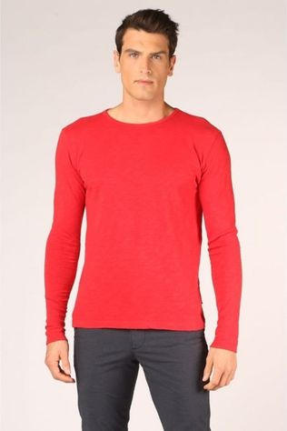 Knowledge Cotton Apparel T-Shirt 30374 Bleu Foncé/Rouge Moyen