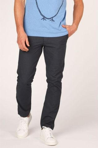 Knowledge Cotton Apparel Broek 70248 Donkerblauw