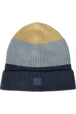Knowledge Cotton Apparel Muts Leaf Colored Ribbing Hat Donkerblauw/Lichtblauw