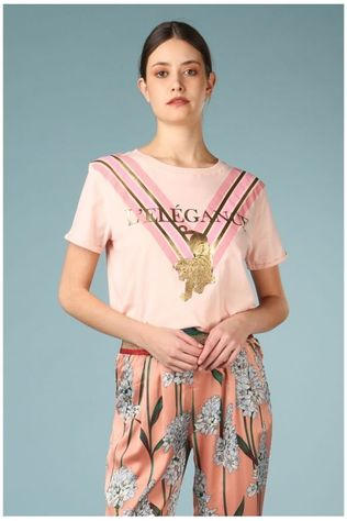 Sofie Schnoor T-Shirt S192294 Rose Clair/Or