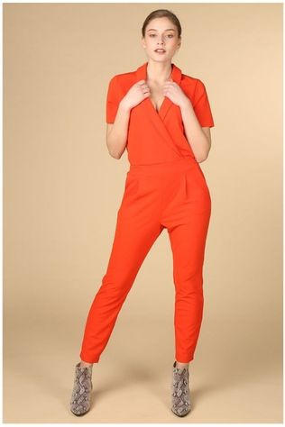 B.Young Jumpsuit Bytavi Middenrood