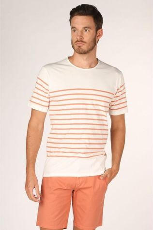 Minimum T-Shirt Balser Gebroken Wit/Oranje