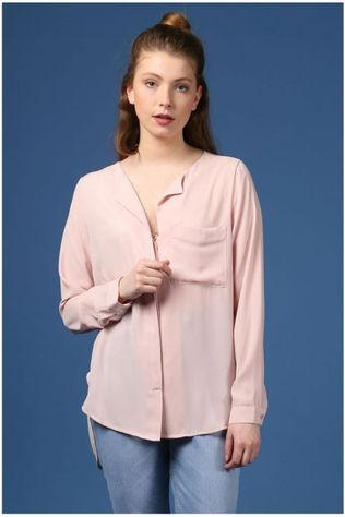 Selected Chemise Sf Dynella Ls Rose Clair/Rose Moyen