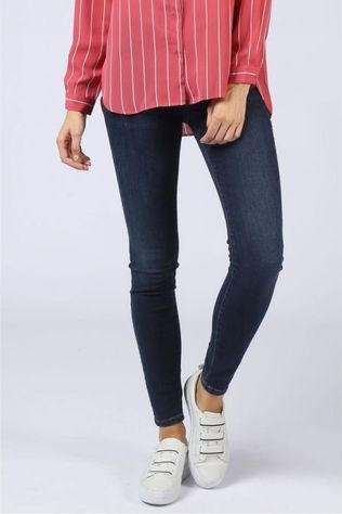 Selected Jeans Slf Ida Mw Skinny Donkerblauw (Jeans)