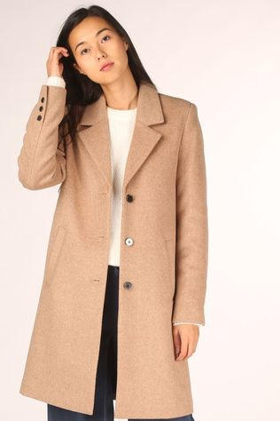 Selected Jas sasja Wool Coat Noos Kameelbruin