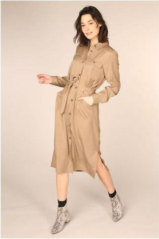 MbyM Robe Eleena Long Sleeves Brun Sable