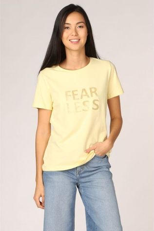 B.Young T-Shirt Bypandina Flock Jaune Clair