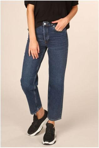 Selected Jeans Slfkate High Waist Straight Inky Blue Bleu (Jeans)