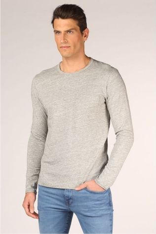 Selected T-Shirt Slharnoldlsneck Gris Clair Mélange