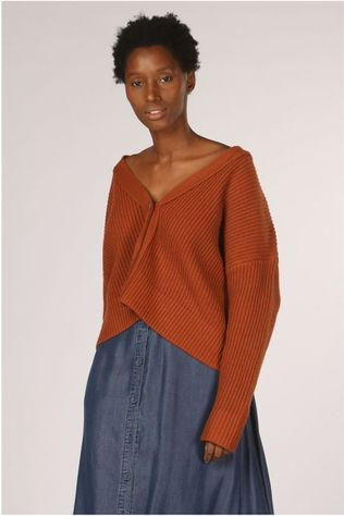 Selected Cardigan caroline Ls Knit Cropped Roest