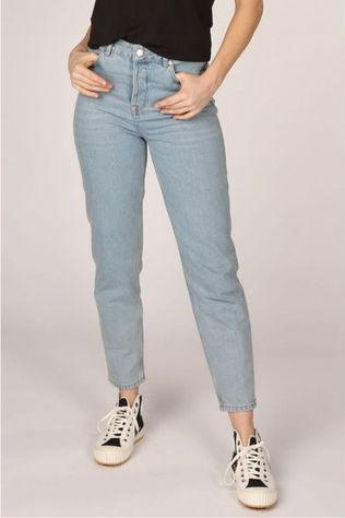 Selected Jeans Slffrida High Waist Mom Aruba Bluejeans Bleu Clair